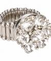 Zilveren ring zilveren steentjes chunk