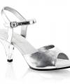 Zilveren sandalen esmeralda