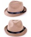 Zomer hoed zwart riempje