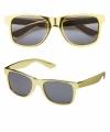 Zonnebril goud montuur