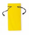Zonnebrillen etui van stof geel 18