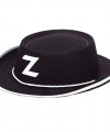 Zorro hoedje zwart kinderen