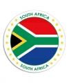 Zuid afrika sticker rond 14 8