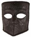 Zwart bauta masker heren
