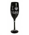 Zwart champagne glas i love papa