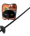 Zwart degen zwaard masker