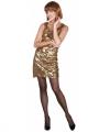 Zwart jurkje gouden pailletten