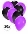 Zwart paarse halloween ballonnen 20 stuks