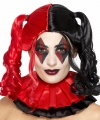 Zwart rode harley look a like damespruik staarten