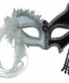 Zwart wit venetiaans oogmasker