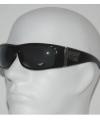 Zwarte biker zonnebril dave