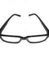 Zwarte brilmontuur van plastic