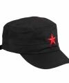 Zwarte cap rode ster