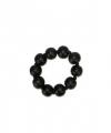 Zwarte kralenarmband