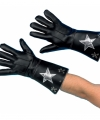 Zwarte nepleren handschoenen ster