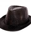 Zwarte trilby hoed pailletten volwassenen