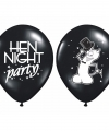 Zwarte vrijgezellenfeest ballonnen 6 stuks