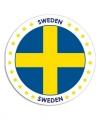 Zweden sticker rond 14 8